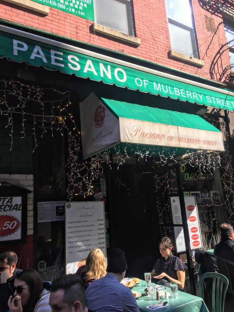 Paesano of Mulberry Street in Little Italy, NYC