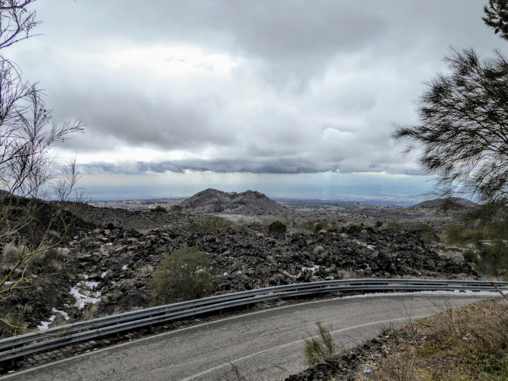 Driving up Mt. Etna!