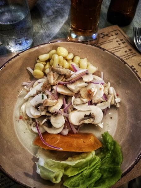 mushroom ceviche from Barra Maretazo in Lima, Peru