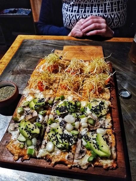 pizza from Veggie Pizza in Lima, Peru