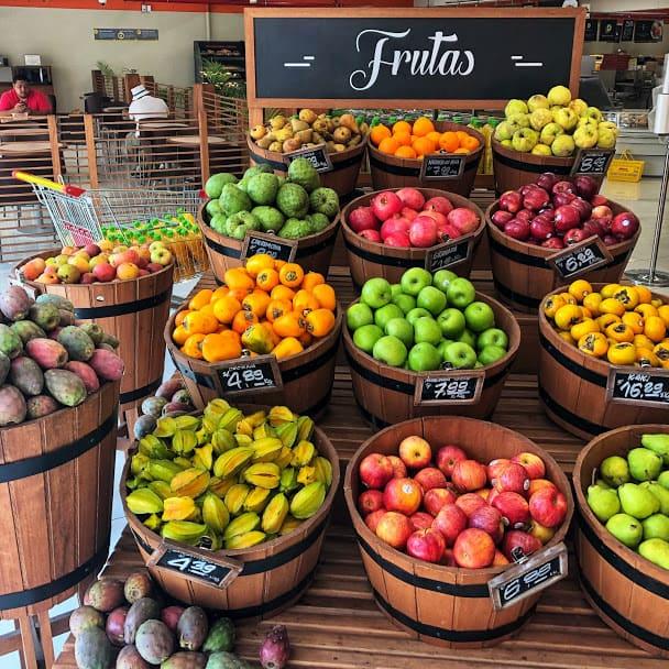 fruits in a supermarket in lima, peru