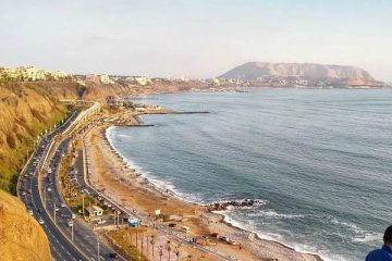 beaches of lima, seen from safe miraflores