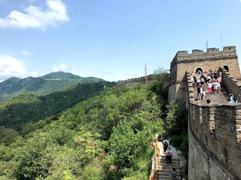 Crowds on the Great Wall of Cina