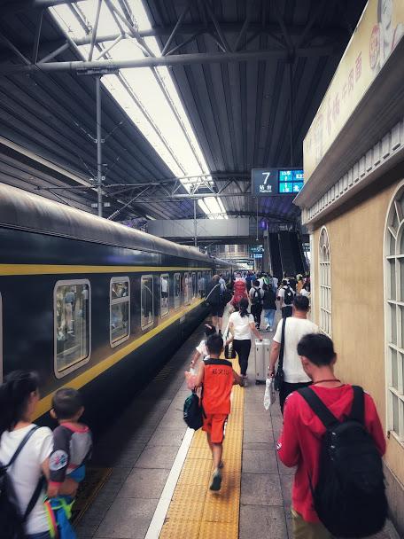 K23 train at Beijing Central Train Station