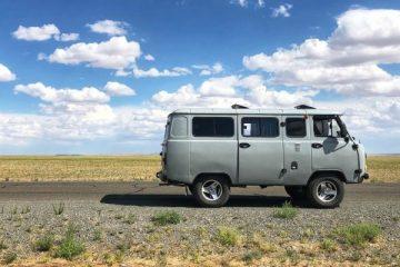 Soviet truck in mongolia