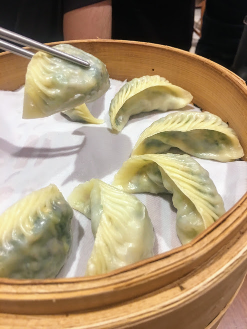 vegetarian mushroom dumplings from din tai fung restaurant in taipei