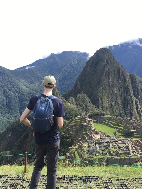 hikpro 20L packable backpack at machu picchu