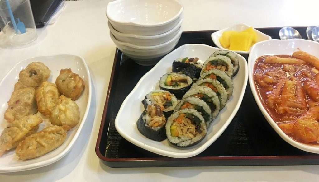 Vegan Korean food at Maru JaYeonSik Kimbap restaurant in Seoul