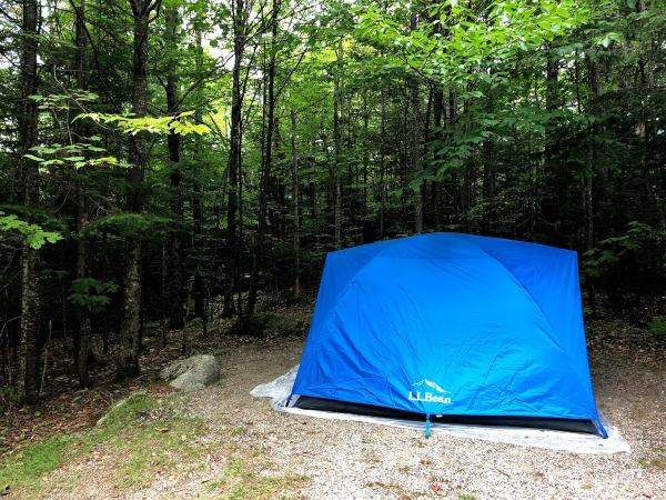 Our cozy tent in the White Mountains!