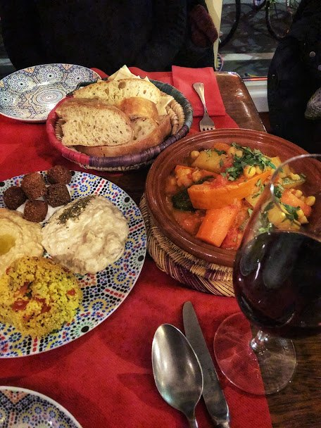 Vegetarian couscous and mezze from Barbès in Lucerne