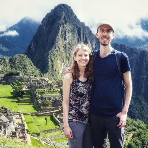 us at machu picchu in peru!